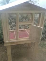 Viveiro modelo casinha
