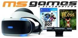 Playstation VR PS4 Oculos Realidade Virtual Bundle Astro Modelo Novo ZVR2 Pronta Entrega
