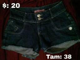 Vendo shorts jeans