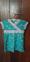Vestido em malha, estilo oriental, da Green, em perfeito estado. R$ 30