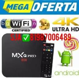 Tv box 4k configurado 3 de RAM 16 gigas android 8.1 aceito cartao *
