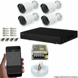 Kit Cftv 4 Câmeras Ahd-m 720p 3,6mm Dvr 8 Canais Visionbras Dvr 720p + Acessorios