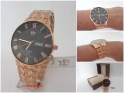be5a0f92b Relógio Vip Saphilite MH 6320-1 Ultra Slim, Original, Novo, Cobre com