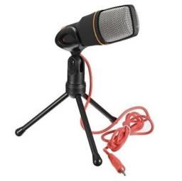 Microfone Condensador Profissional Para Gravação Vídeos Músicas Aulas Estúdio etc
