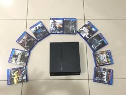 Vendo Ps4 500 Gb C/ 10 jogos