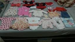 Lote de roupa bebe menina