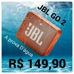 Caixa Som JBL GO2, A prova D'água, Bluetooth, lacrado de fábrica, original com garantia