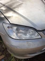 Farol simples sucata Honda Civic 2004 le/Ld