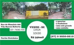 Vende-se: Casa com terreno grande por um preço acessível!!! (Perto do Norte Sul)