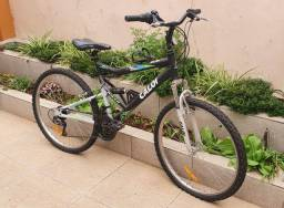 Bicicleta Caloi aro 26 com suspensão completa