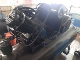 Compressor schulz industrial 40pcm pés/ 350 litros / motor trifasico 10cv hp otimo