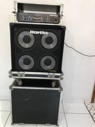 Set para Baixo Hartke Cabeçote HA-3500 e Caixa XL-410 com Case For Case -KGB