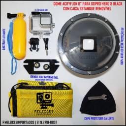 Título do anúncio: Dome Para GoPro Hero 8 Black Completo com caixa Estanque Removível