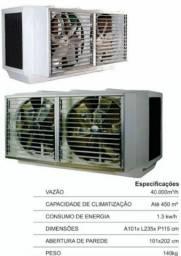 Climatizador evaporativo climatiza 450 a 500 metros quadrados