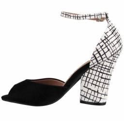 Sandália camurça flex/cobra xadrez vizzano