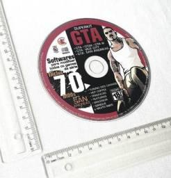 Raridade - CD de Jogos - Brinde de Revista de Games - Superkit GTA - Mídia Física Usada