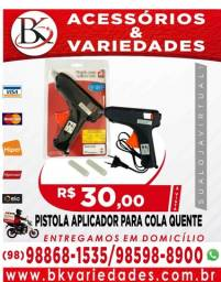 Título do anúncio: Pistola Aplicador Para Cola Quente Bivolt + 2 Bastões 40w - (Loja BK Variedades)