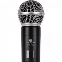 Microfone sem Fio de Mão Uhf HSF-101 Harmonics  Lacrado !