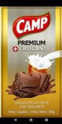 Título do anúncio: Barra de chocolate Camp ao leite com crocante