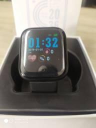 Smartwatch D20 cor preta