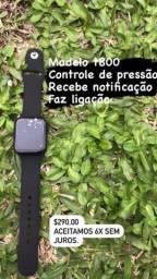 Relógio smartwatch top com várias funções