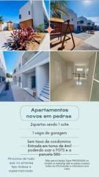 Título do anúncio: Apartamentos já prontos sem taxa de condomínio próximo de supermercado,ônibus etc