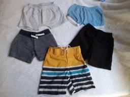 Short-Camisetas-Regatas- Bebê/menino até 1 ano.