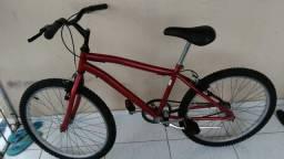 Título do anúncio: Bike aro 24 simples semi nova vermelha.
