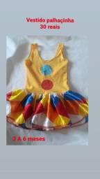 Vestido palhaçinha