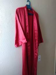 Robe Longo Novo acompanha faixa para amarrar