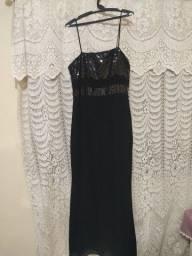 Título do anúncio: Vestido longo de festa preto