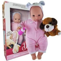 Título do anúncio: Boneca Dog Park Com Cachorrinho E Capuz Bee Toys - 0892