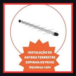Título do anúncio: Antena espinha de peixe- antena terrestre- antena digital