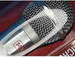 Microfone M- 996 Plástico prata com fio -mxt
