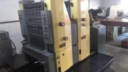 Impressora Offset Bicolor Hamada B252 + Guilhotina