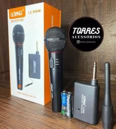 Microfone Sem fio profissional Completo Lelong