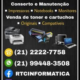 Conserto de impressoras venda de toner e cartuchos