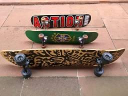 1 longboard , 2 skates street profissionais , par de luvas e capacete