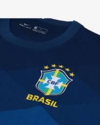 Camisa Seleção Brasileira Masculina Azul GG