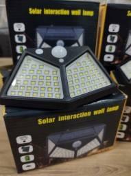 Título do anúncio: Luminária com Carregamento solar de led e sensor