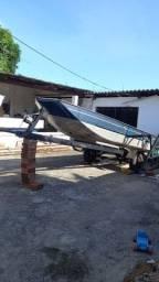 Título do anúncio: Vendo barco de alumínio com motor e carretinha semi novo