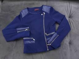 Título do anúncio: Jaqueta azul marinho P usado EM BOM USO