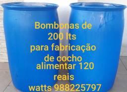 Bombonas para reutilização de agua