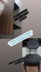 Título do anúncio: Mesa, cadeiras e impressora