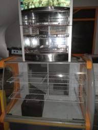 Balcão seco,estufa 3D, balcão espelhado para pães