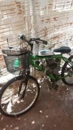 Bicicleta motorizada passo cartão