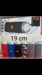 Caixinha de som mp3 rádio bluetooth pendrive tamanho 19 cm atacado e varejo