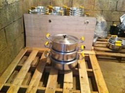 10 panelas aluminio batido grosso