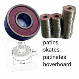 Longboard, skate, patins, patinetes, Rolamentos