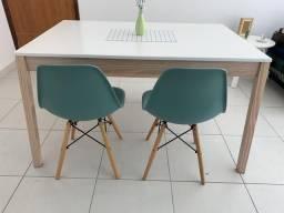 Conjunto mesa e banco TokStok e cadeira pé palito